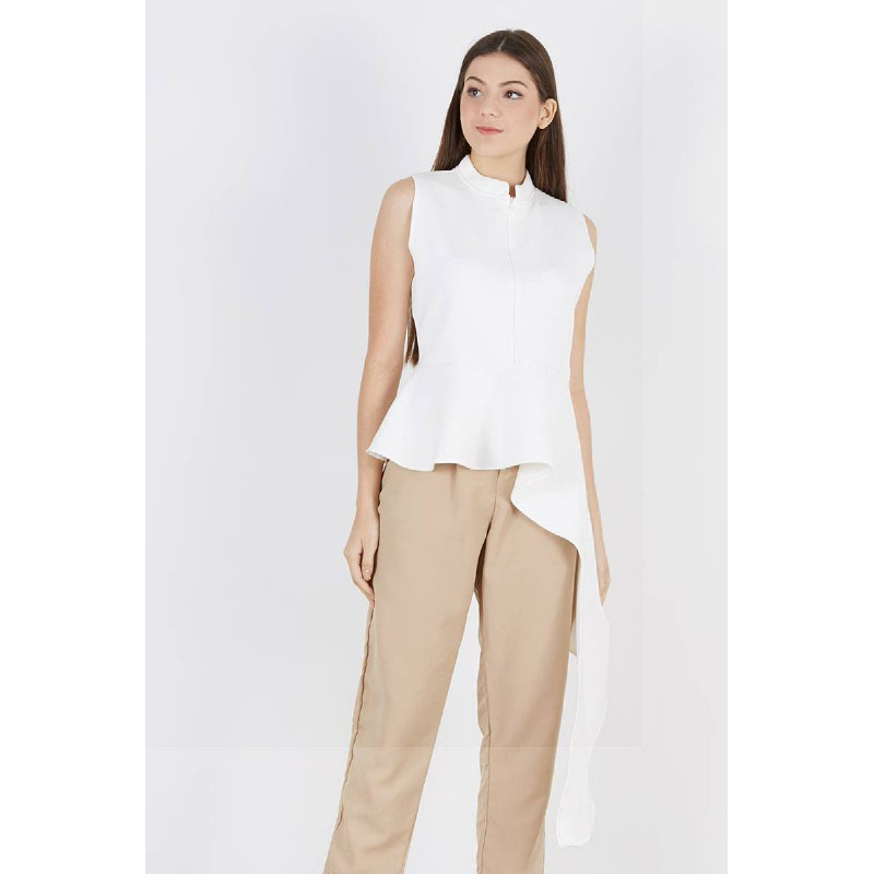 Pulo Assymetric Top White