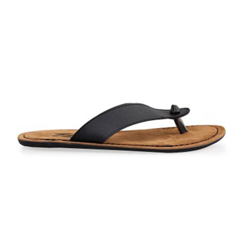 Black Faux Leather Sandals 003