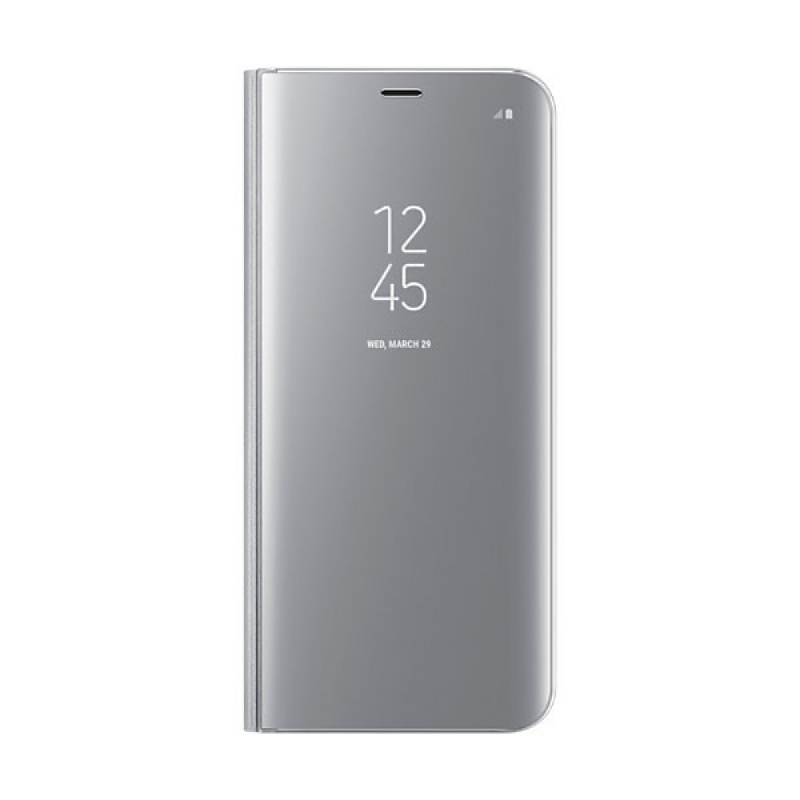 Samsung Clear View Standing Cover For Galaxy S8+ Silver