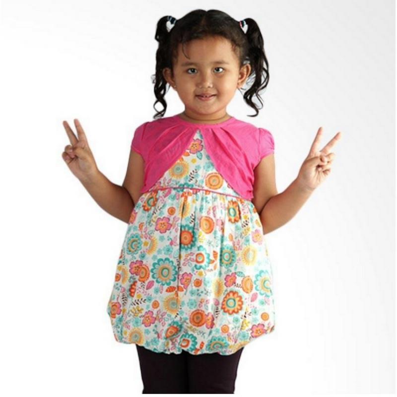 4 You Flower Dress Fuschia