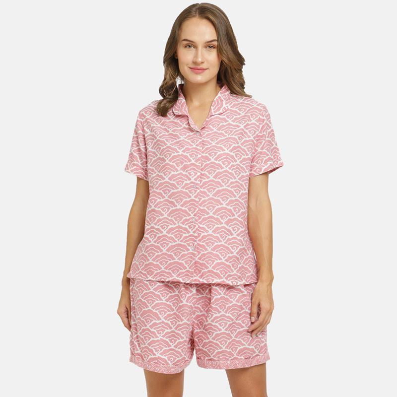 Anakara Batik Lounge Wear Batik Set Cloudy  Pink