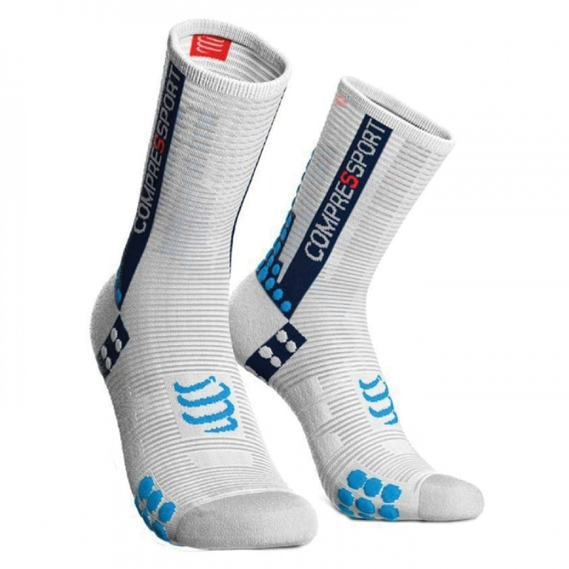 COMPRESSPORT Bike Socks V3.0 White