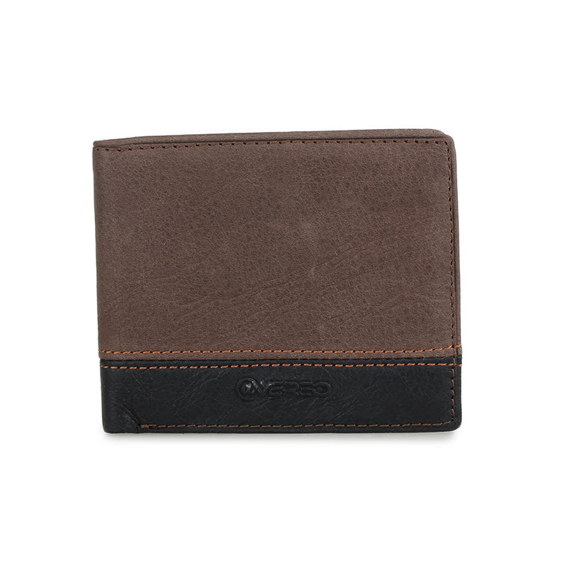 ATVERSO Leather Mens Wallet Brown Black