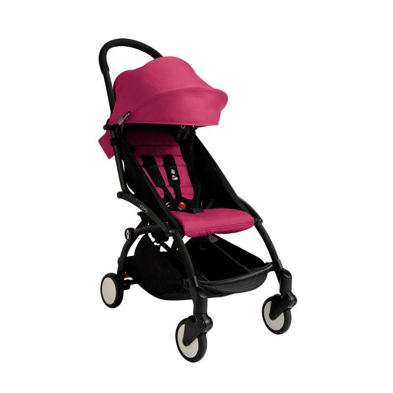 Babyzen Yoyo Stroller + Frame Black Kereta Dorong Bayi [6+] Pink