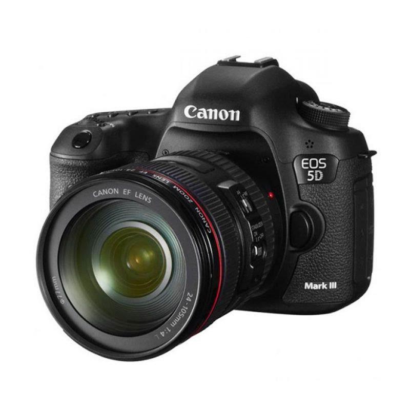 Canon EOS 5D Mark III Kit 24-105mm IS USM Kamera DSLR - Hitam