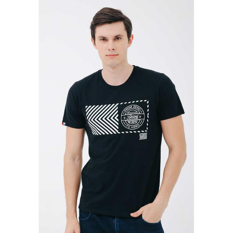 3Second Men Tshirt T0601.Black