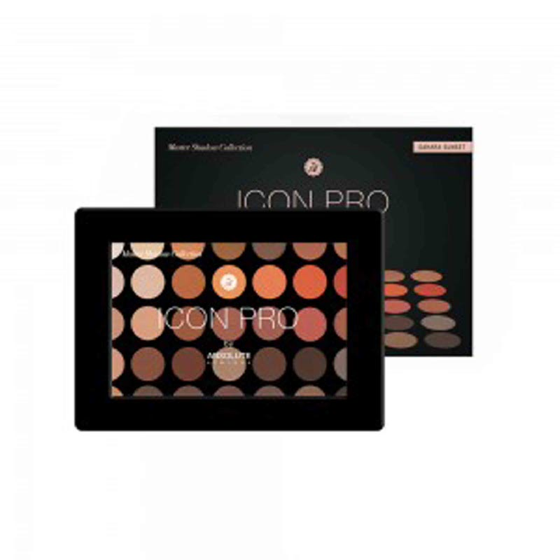 Absolute New York Icon Pro Eyeshadow Palette Sahara Sunset Color