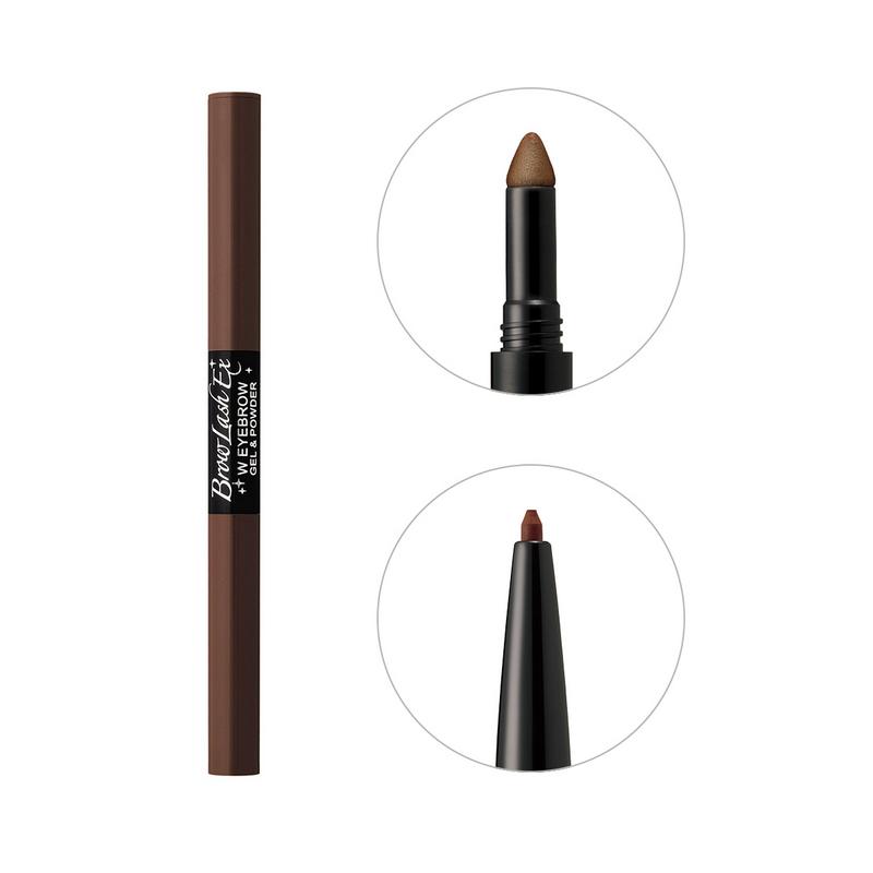 BCL Eyebrow Pencil & Powder Natural Brown Browlash Ex