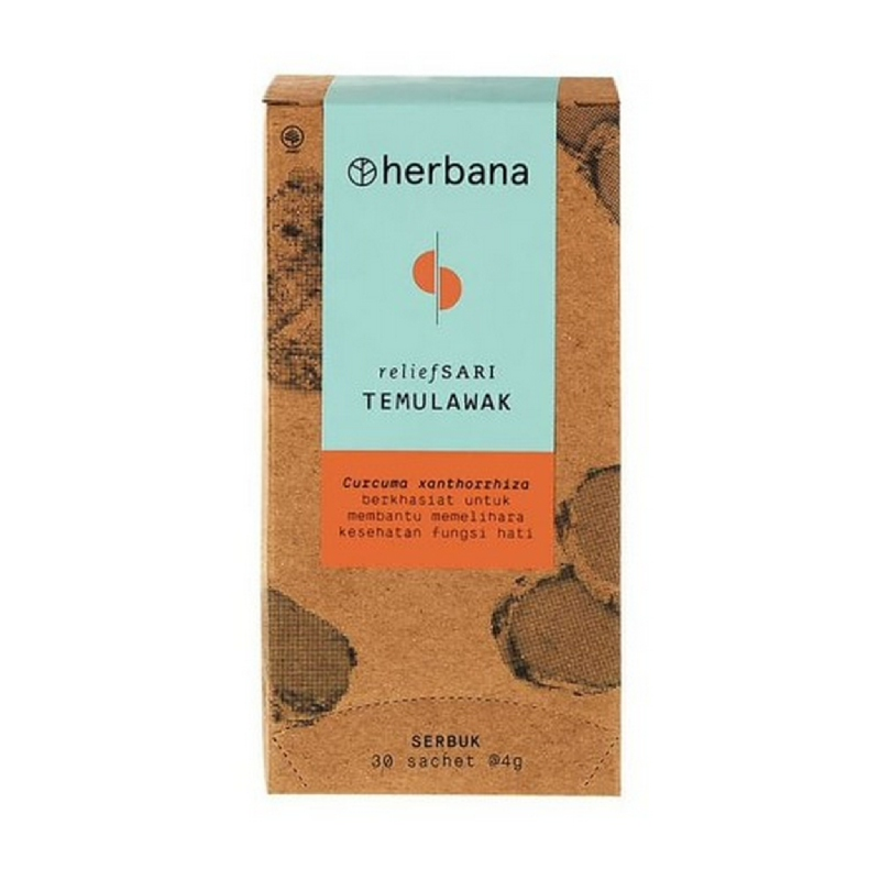 Herbana Relief Sari Powder Temulawak 30 x 4 g