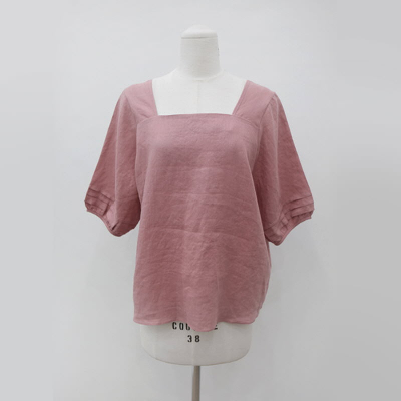 Square Puff Blouse (2color) PINK