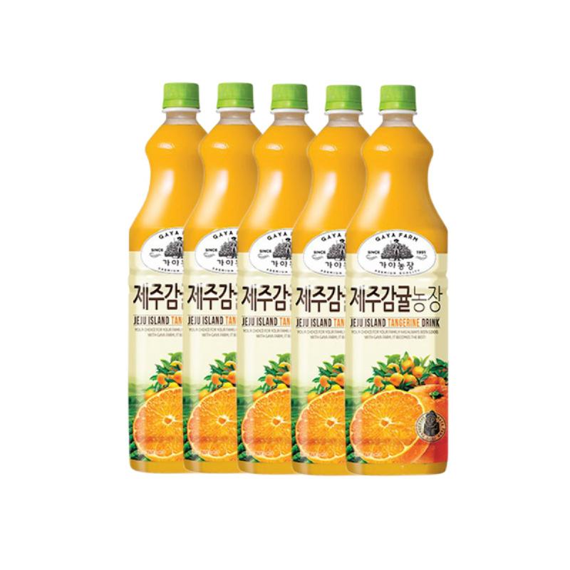 Jeju Tangerine Drink 1.5 L 5 Pcs
