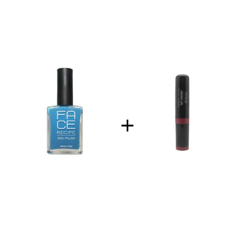 Face Recipe Blue Light Pastel Nail Polish Winter 16 - 17 No. 20Face Recipe Creamy Lips Maroon Lip Gloss