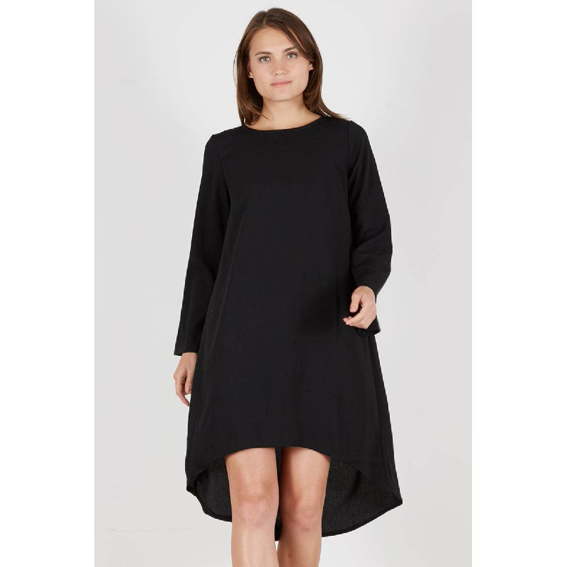 Pashani High Low Dress Black