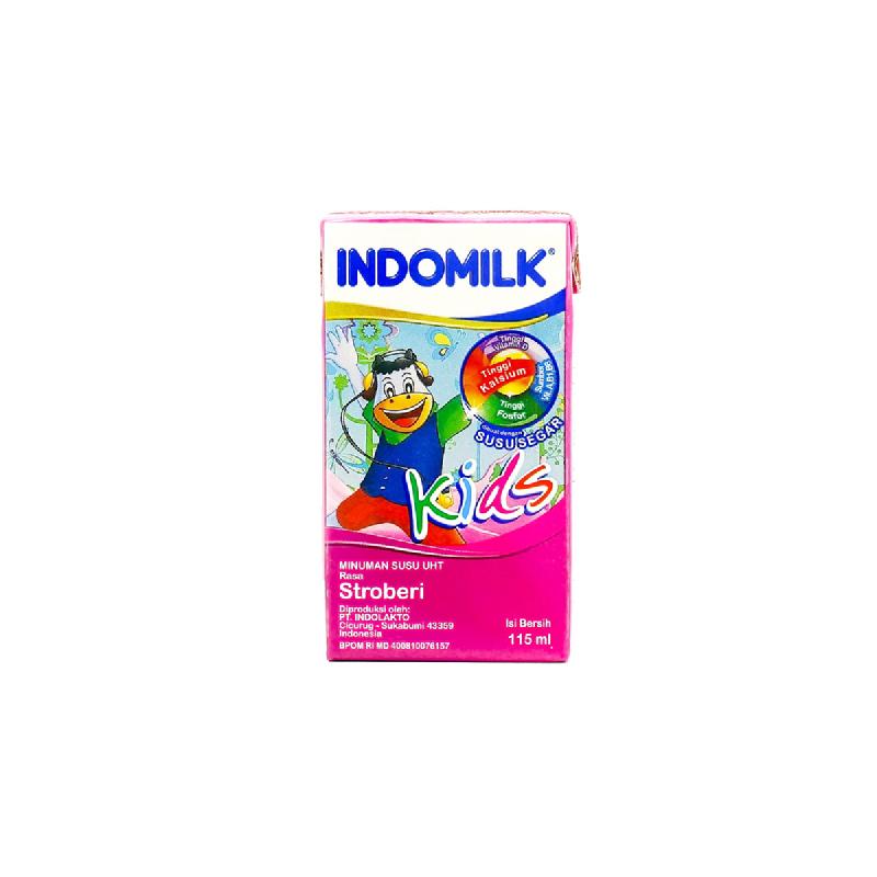 Indomilk Uht Kids Strawberry 115 Ml