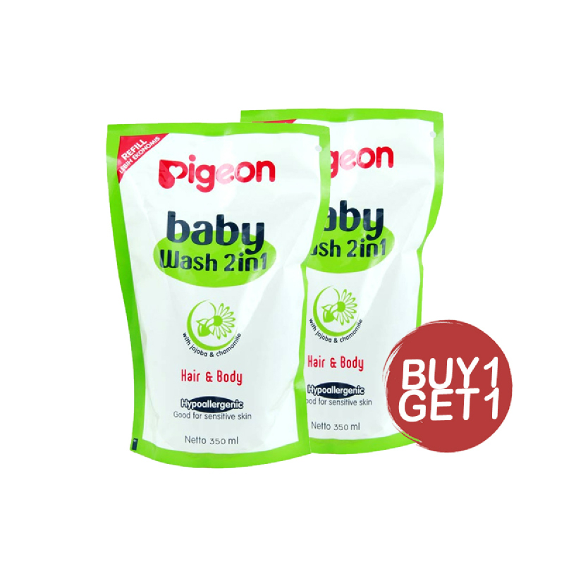 Pigeon Baby Wash Chamomile Refill 350 Ml (Buy 1 Get 1)