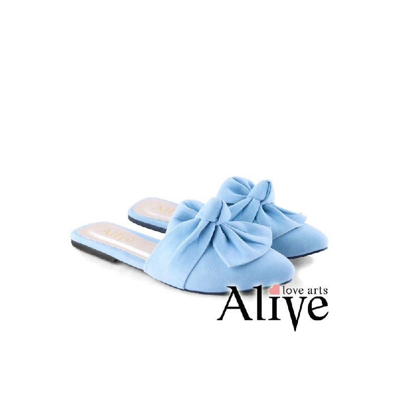 AliveLoveArts Miley Sandals Mules Blue