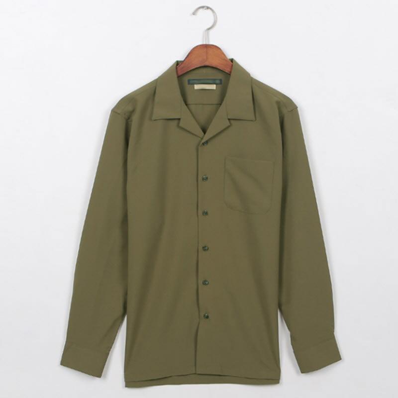 Planner Open Collar Shirt Khaki
