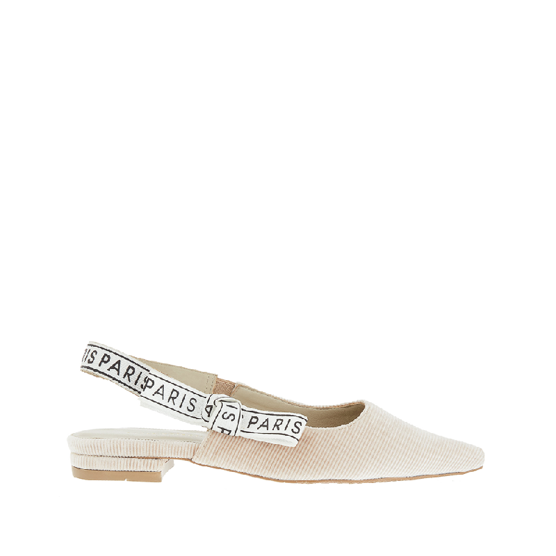 Andre Valentino Penny Flat Shoes Beige