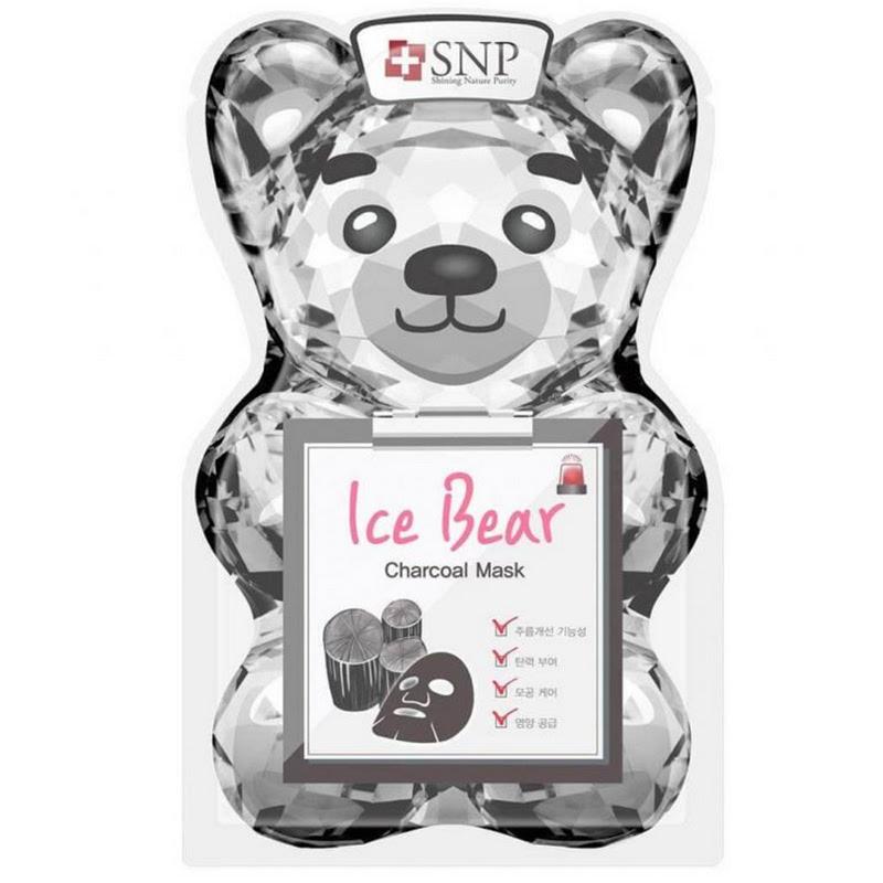 SNP Ice Bear Charcoal Mask 33ml