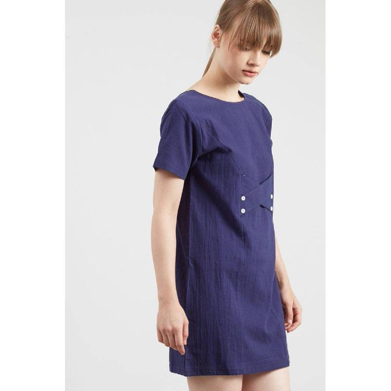Himona Navy Dress