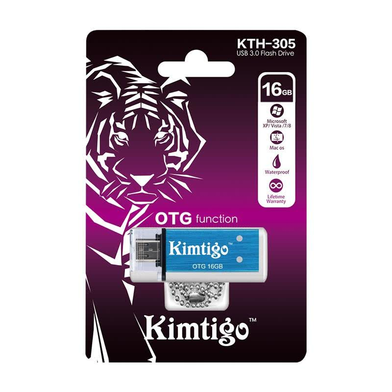 KTH-305 USB 3.0 & OTG 16GB Flash Drive - Biru