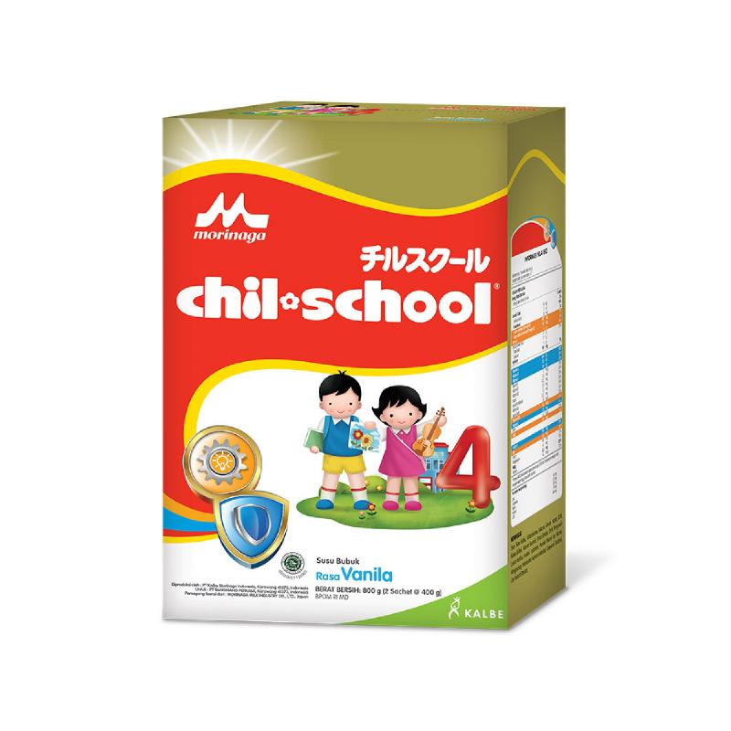 Morinaga Susu Bubuk Chil School Dha Vanila 800G