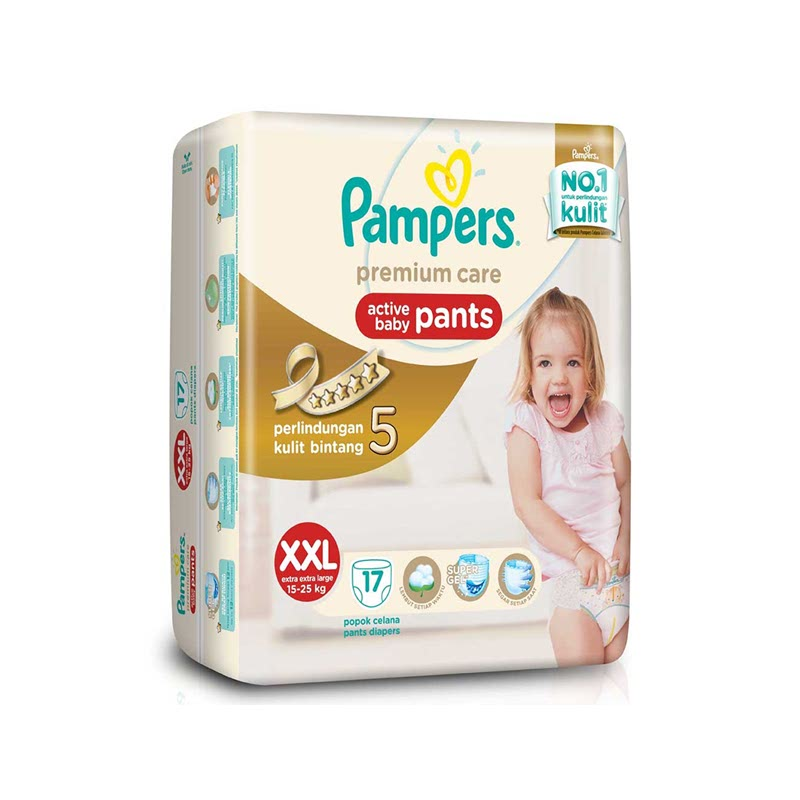 Pampers Premium Active Baby Diaper Pants Xxl 17S