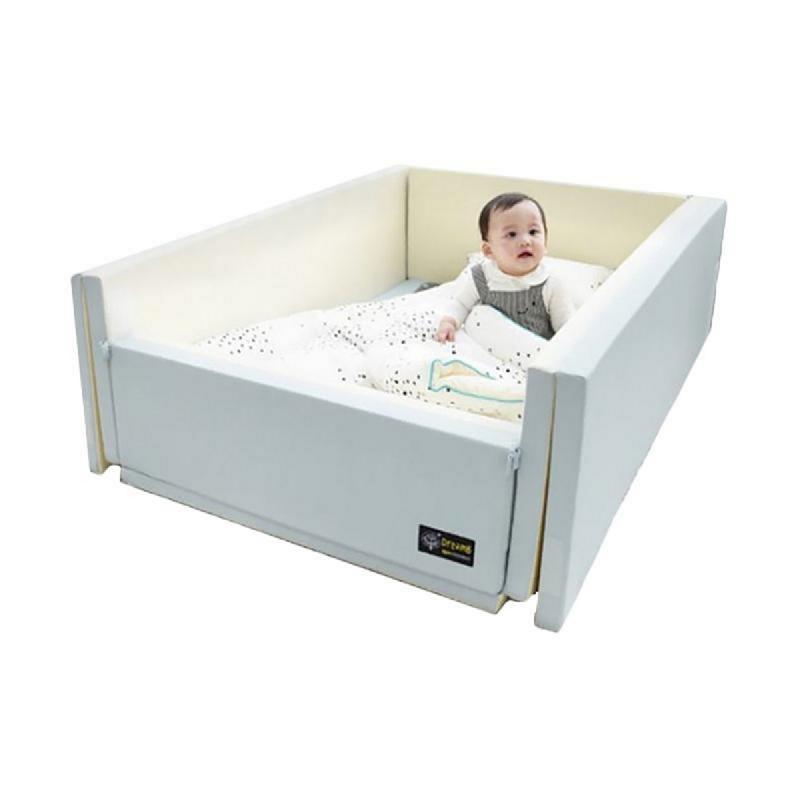 Ggumbi Bumper Bed Indie 12in1 Tempat Tidur Bayi - Blue Blue