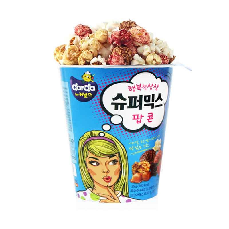Darda Popcorn - Jagung Berondong Aneka Rasa (Karamel, Cokelat, Stroberi) 55 gr