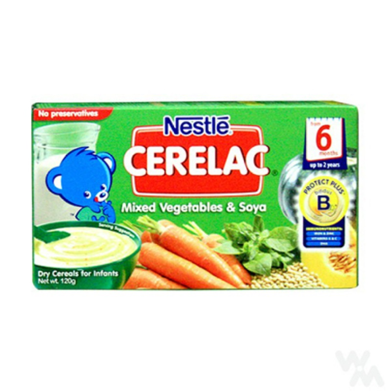 Nestle Cerelac Mixed Vegetables & Soya 120 Gr