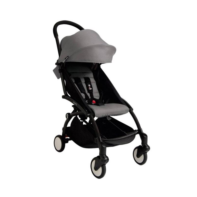 Babyzen Yoyo Stroller + Frame Black Kereta Dorong Bayi [6+] Grey