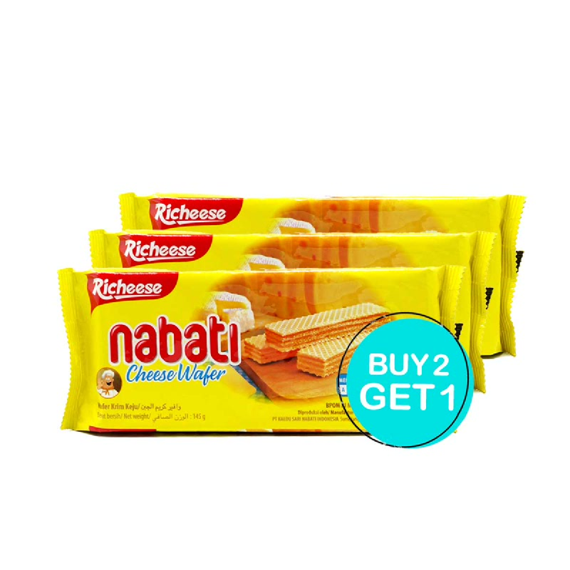 Richeese Nabati Wafer Keju 145 Gr (Buy 2 Get 1)