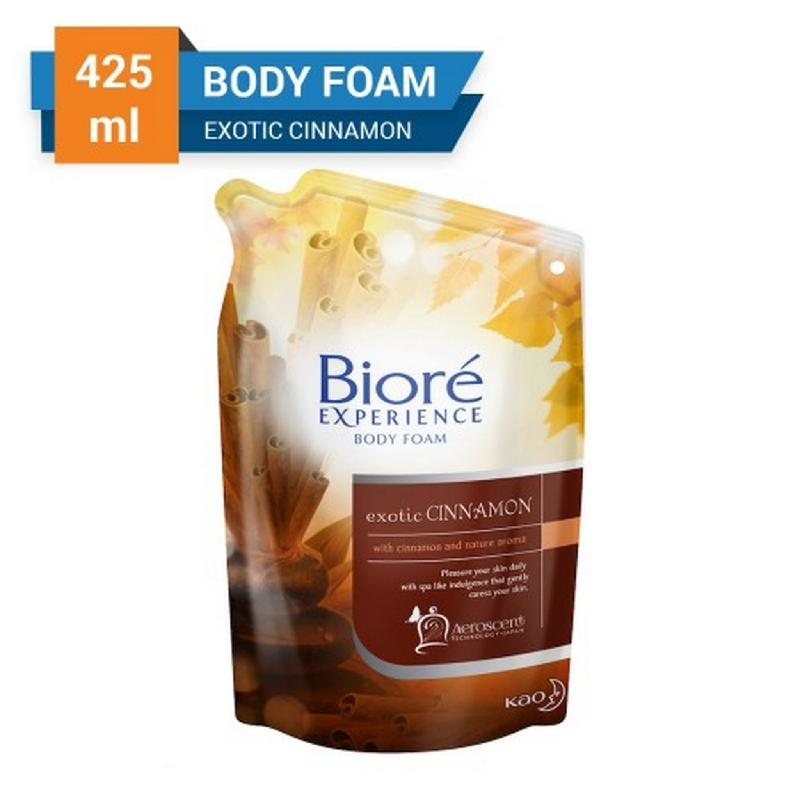 Biore Body Foam Exotic Cinnamon Pouch 425 ml