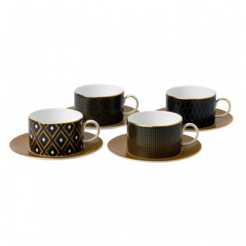 Arris - 5 per 4 Tea Cups & Saucers Gift boxed