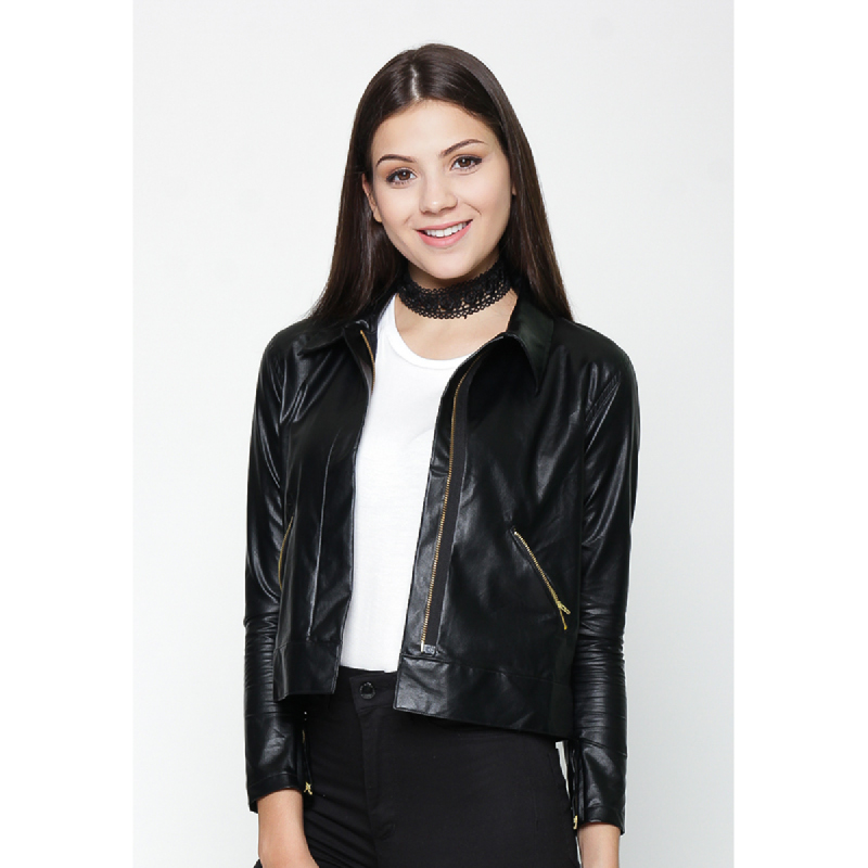 Heart And Feel Hnf Leather Jacket Black