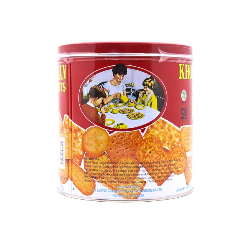 Khong Guan Biscuit Red Mini Assorted Kaleng 650G