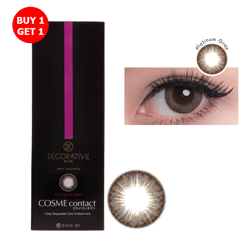 Shobi Platinum Gray  (-5.50) 1 Day Disposable Cosme Contact Lens  2pcs