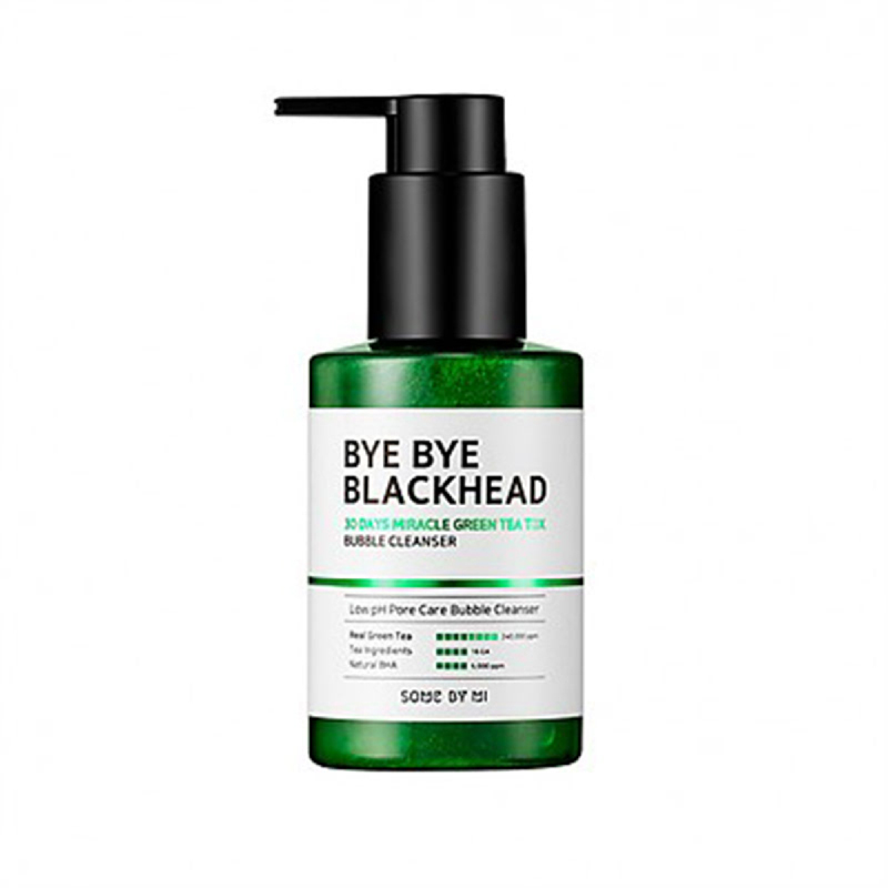 Some By Mi Bye Bye Blackheads 30 Days Miracle Green Tea Tox Bubble Cleanser