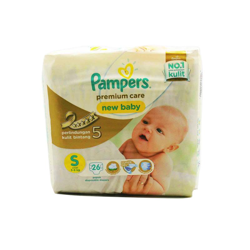 Pampers Premium Active Baby Popok Taped Economy S 26S