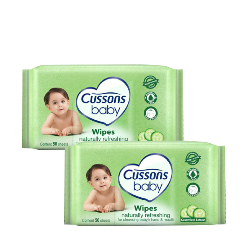 Cussons Baby Wipes Naturally Refreshing 50'S (Buy 1 Get 1)