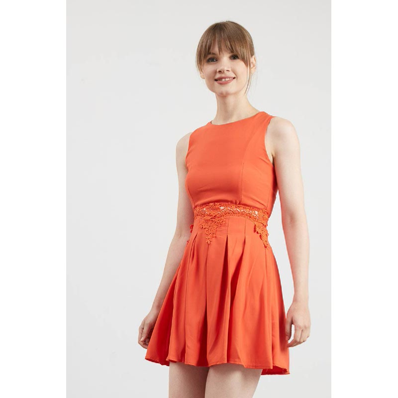 Gwen Kempten Dress in Orange