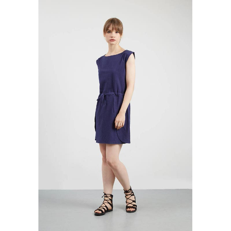 Hinna Navy Drawstring Dress