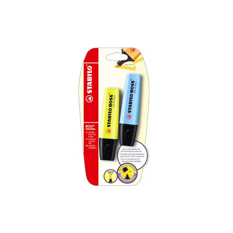 Stabillo Boss Set 2 Yellow - Blue