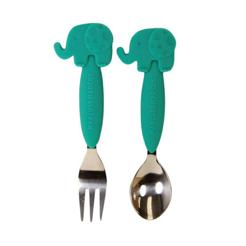 Marcus & Marcus Spoon Fork Set - Elephant Green Green