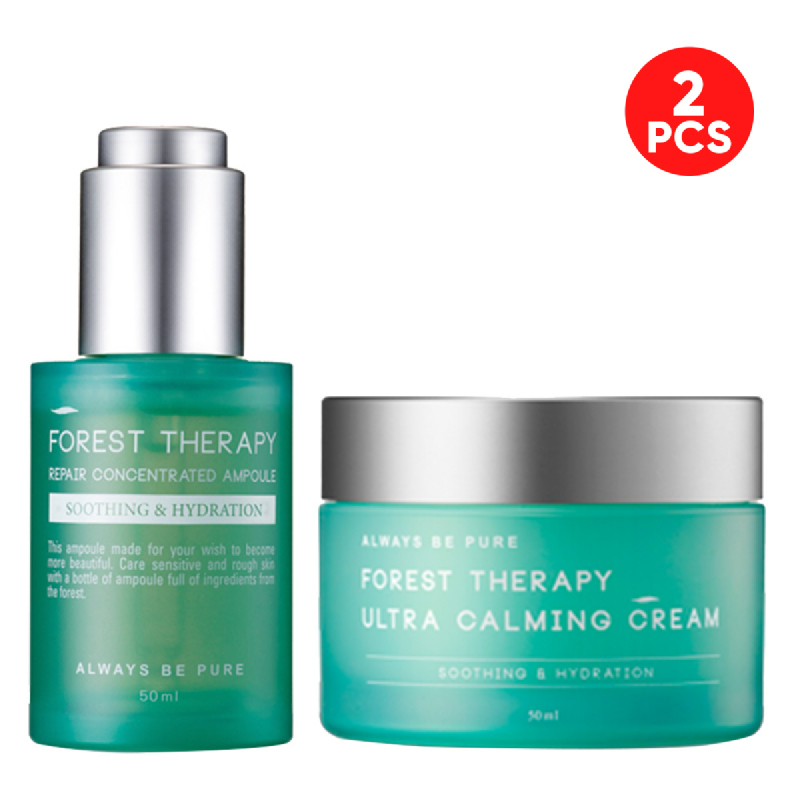 Always Be Pure Forest Therapy Repair Concentrated Ampoule 50ml + Ultra Calming Cream 50ml