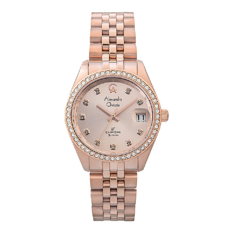 Alexandre Christie Classic Steel AC 5012 MD BRGLN Men Rose Gold Dial Rose Gold Stainless Steel