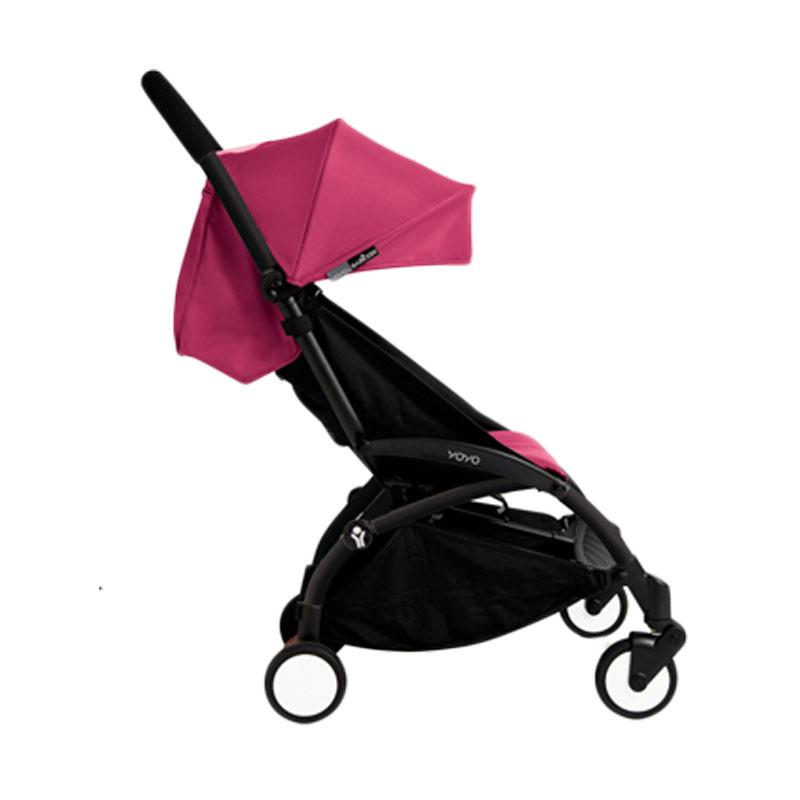 Babyzen Yoyo Stroller + Frame Black New Born Kereta Dorong Bayi [6+] Pink