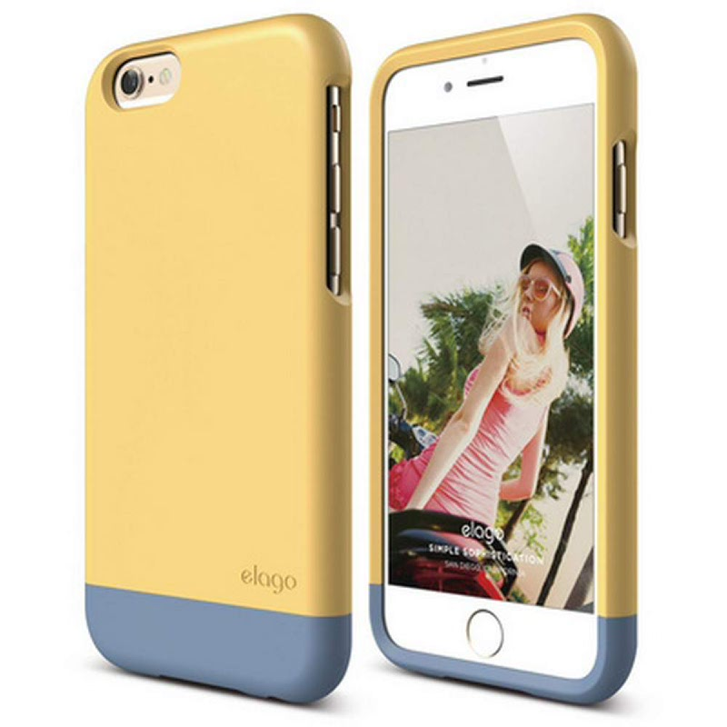 Elago Glide Case for iPhone 6 - SG Creamy Yellow + SF Royal Blue