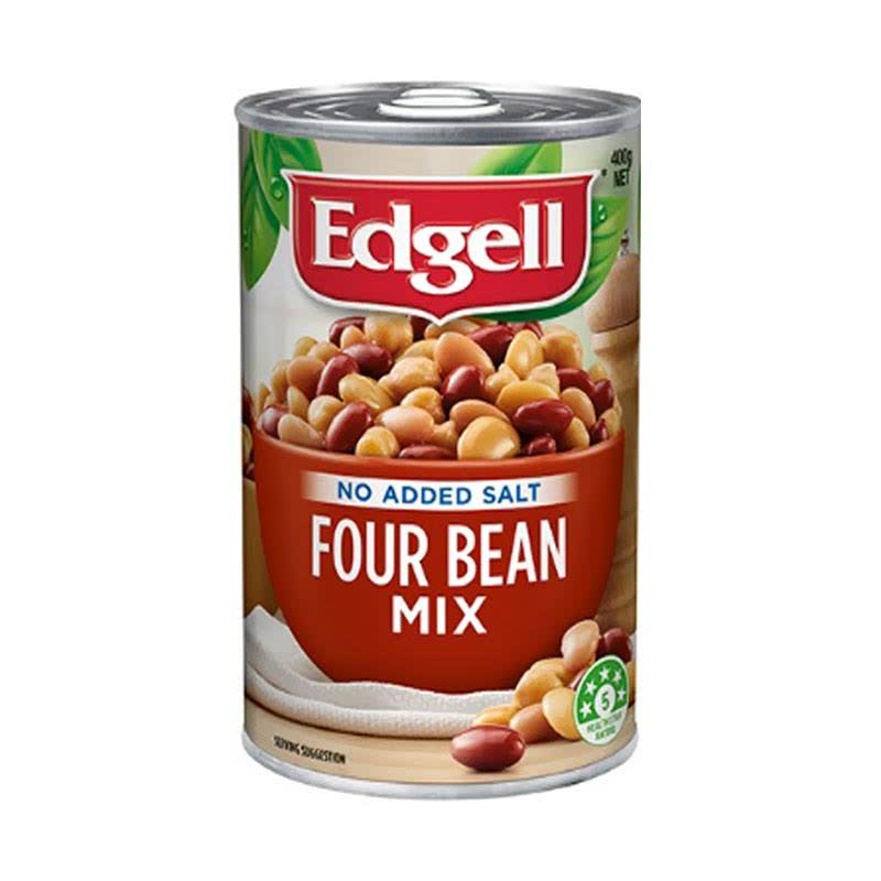 Edgell Four Bean Mix Tray Pack Ring Pull 400 gr