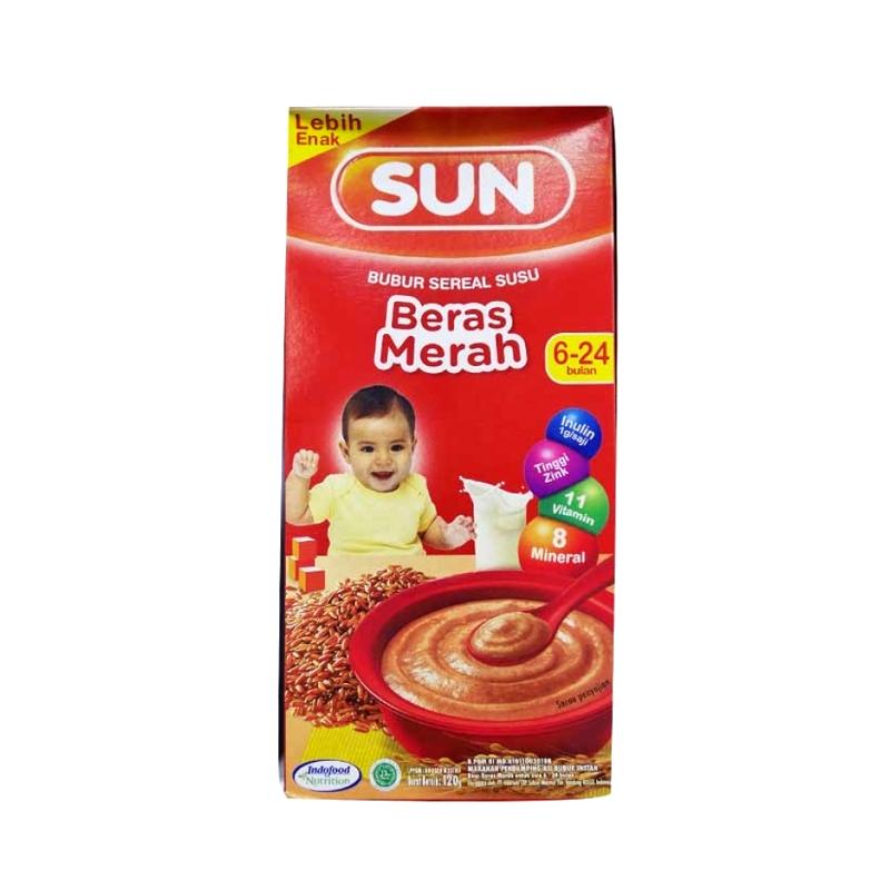 Sun Bubur Sereal Susu Beras Merah Box 120 Gr